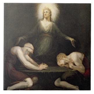 The Appearance of Christ at Emmaus, 1792 (oil on c Ceramic Tile