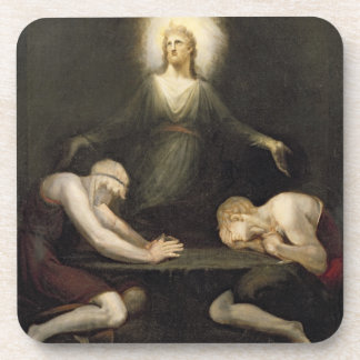 The Appearance of Christ at Emmaus, 1792 (oil on c Drink Coaster