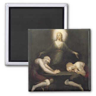 The Appearance of Christ at Emmaus, 1792 (oil on c 2 Inch Square Magnet