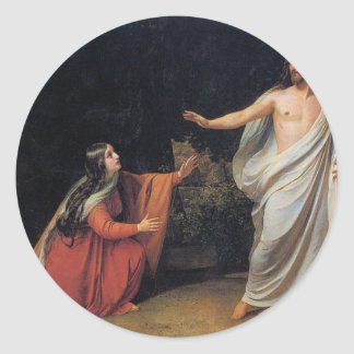 The Appearance of Christ to Mary Magdalene Classic Round Sticker