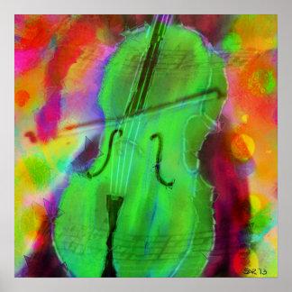 The Apple Cello Print