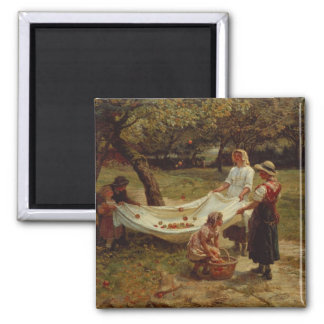 The Apple Gatherers, 1880 2 Inch Square Magnet