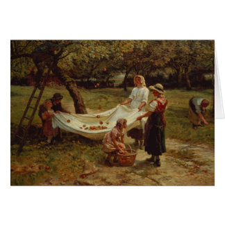 The Apple Gatherers, 1880 Card