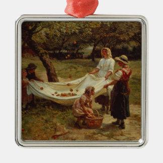 The Apple Gatherers, 1880 Christmas Ornament
