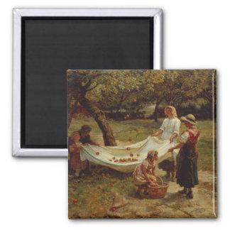 The Apple Gatherers, 1880 Fridge Magnet
