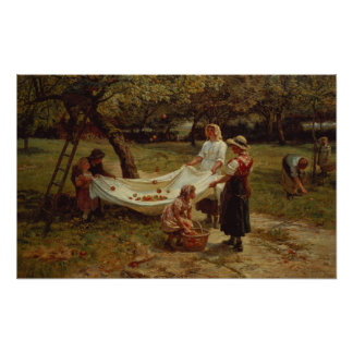 The Apple Gatherers, 1880 Poster