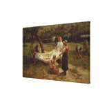 The Apple Gatherers, 1880 Stretched Canvas Print
