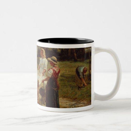 The Apple Gatherers, 1880 Two-Tone Coffee Mug
