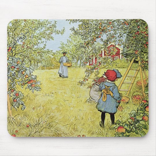 The Apple Harvest Mouse Pad