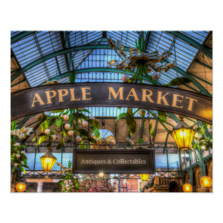 The Apple Market Covent Garden London Poster