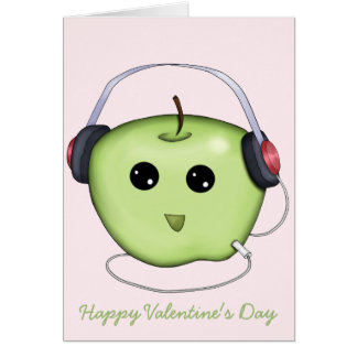 The Apple Of My Eye Music Valentine Card