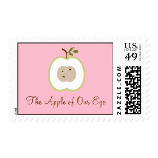 The Apple of Our Eye Baby Shower Postage Stamp