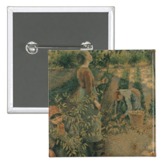 The Apple Pickers, 1886 2 Inch Square Button