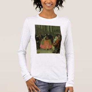 The Apple Seller (oil on canvas) Long Sleeve T-Shirt