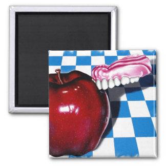 The Apple that Bit Back Refrigerator Magnets