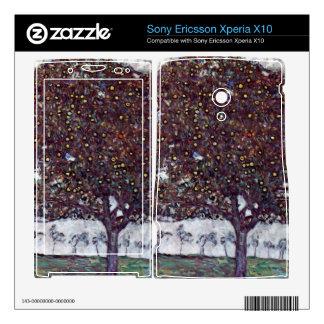 The Apple Tree by Gustav Klimt Xperia X10 Mini Pro Skins