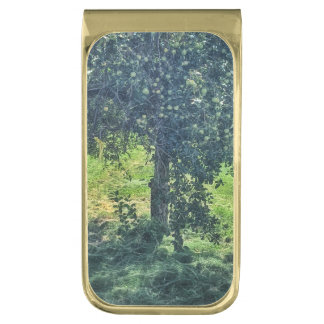 The Apple Tree Gold Finish Money Clip