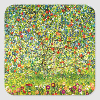 The Apple Tree Square Sticker