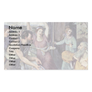 The Application Of Jacob To Joseph Business Card Template