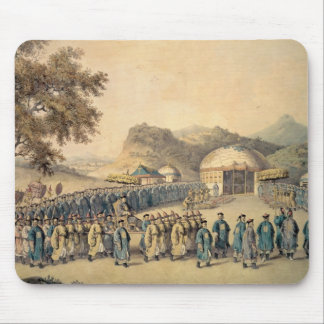 The Approach of the Emperor of China Mouse Pad