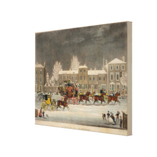 The Approach to Christmas, engraved by George Hunt Canvas Print