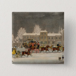 The Approach to Christmas, engraved by George Hunt Pinback Button