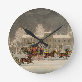 The Approach to Christmas, engraved by George Hunt Round Clock