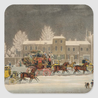 The Approach to Christmas, engraved by George Hunt Stickers
