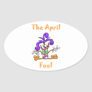 The April Fool Oval Sticker