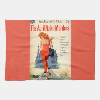 The April Robin Murders pulp novel cover Towel