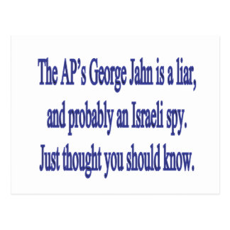 the AP's George Jahn is a liar Postcard