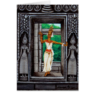 """The Apsara Dancer"" Card"