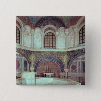 The apse with the baptismal font pinback button