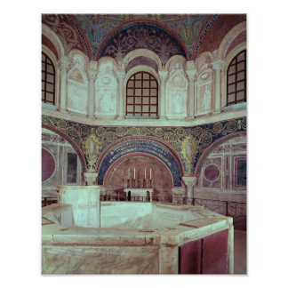The apse with the baptismal font poster