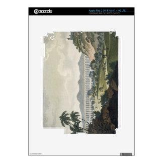 The aqueduct in Rio de Janeiro (colour engraving) iPad 3 Decal