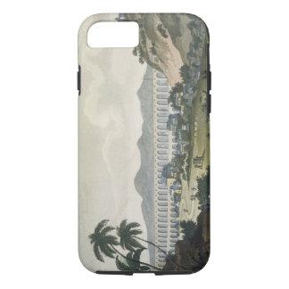 The aqueduct in Rio de Janeiro (colour engraving) iPhone 7 Case