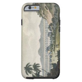 The aqueduct in Rio de Janeiro (colour engraving) Tough iPhone 6 Case