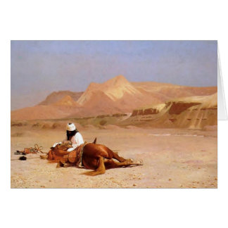 The Arab and his Steed Card