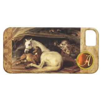 THE ARAB TENT WITH HORS Orange Agate Gem Monogram iPhone 5 Cases