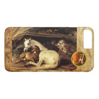 THE ARAB TENT WITH HORSE Orange Agate Gem Monogram iPhone 7 Plus Case