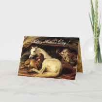 THE ARAB TENT WITH HORSES AND ANIMALS Mother's Day Card