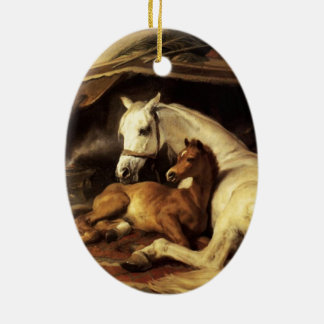 THE ARAB TENT WITH HORSES AND OTHER ANIMALS CHRISTMAS TREE ORNAMENTS