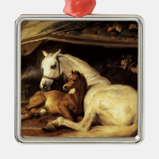 THE ARAB TENT WITH HORSES AND OTHER ANIMALS CHRISTMAS ORNAMENT