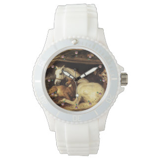 THE ARAB TENT WITH HORSES AND OTHER ANIMALS WRISTWATCH