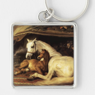THE ARAB TENT WITH HORSES ,OTHER ANIMALS KEYCHAIN