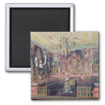 The Arabian Hall in the Catherine Palace 0 2 Inch Square Magnet