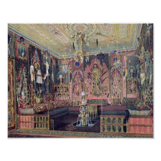 The Arabian Hall in the Catherine Palace 0 Poster