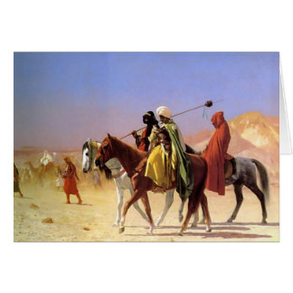 The Arabian person who crosses the desert Card