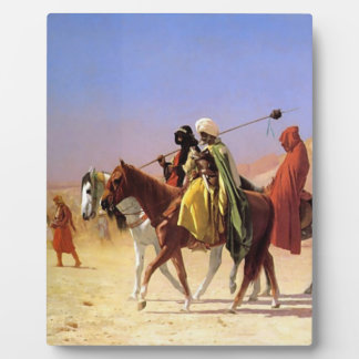 The Arabian person who crosses the desert Plaques