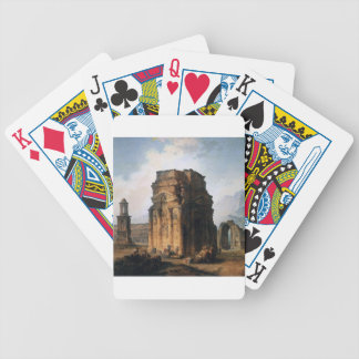 The Arc de Triomphe and the Theatre of Orange Bicycle Playing Cards